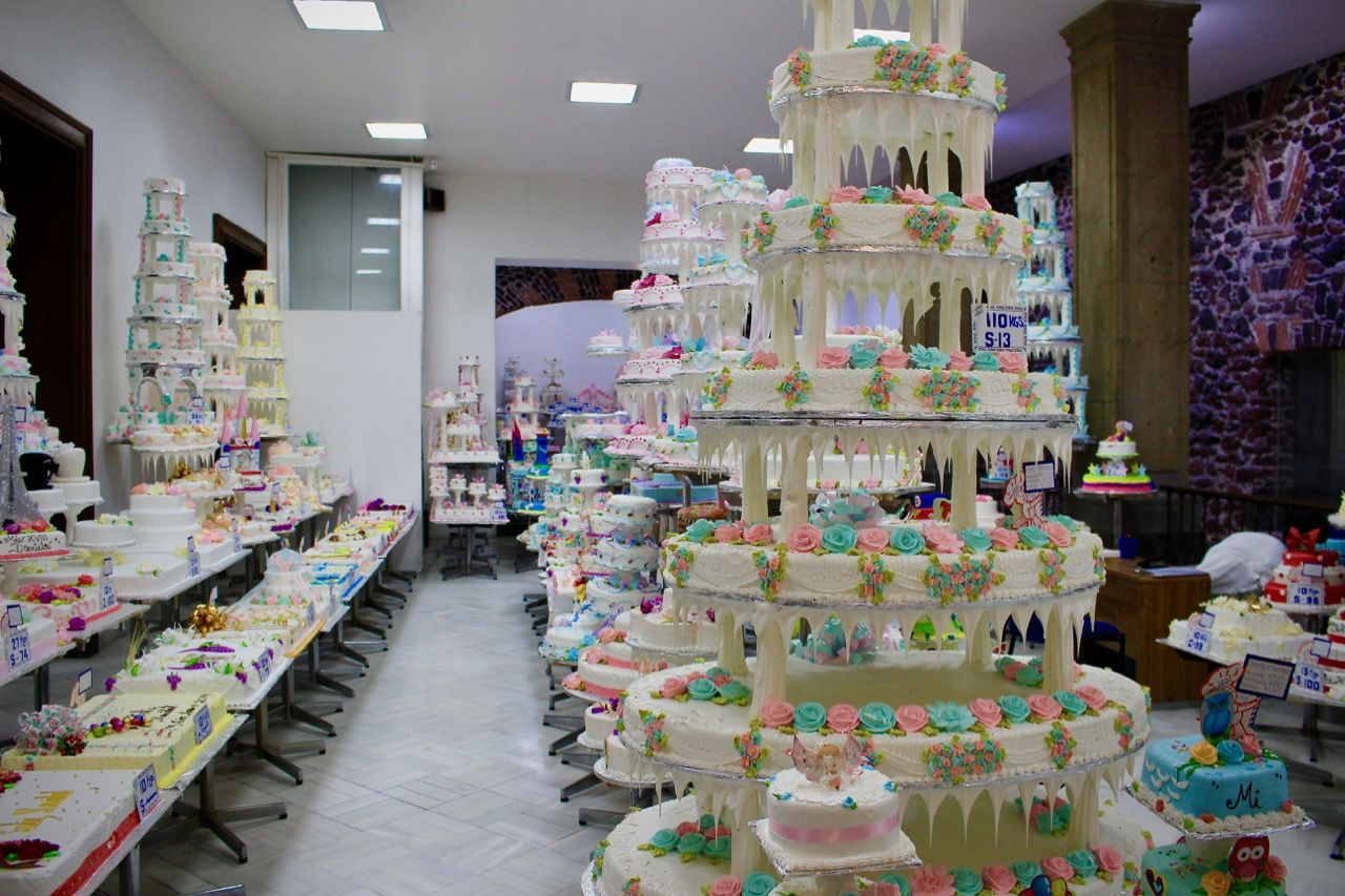 Vzorky dortů v Pastelería Ideal