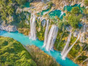 Vodopád Tamul z ptačí perspektivy