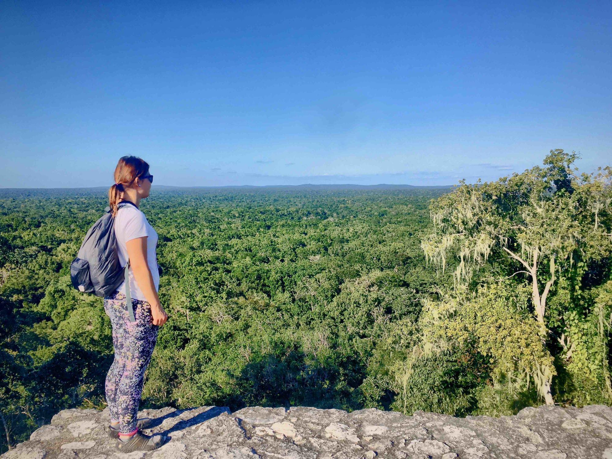 Calakmul: výhled nazelené moře
